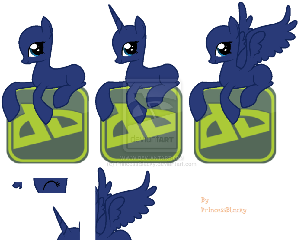 Pony Sitting On DA Icon Base (ATU) Updated by PrincessBlacky on DeviantArt