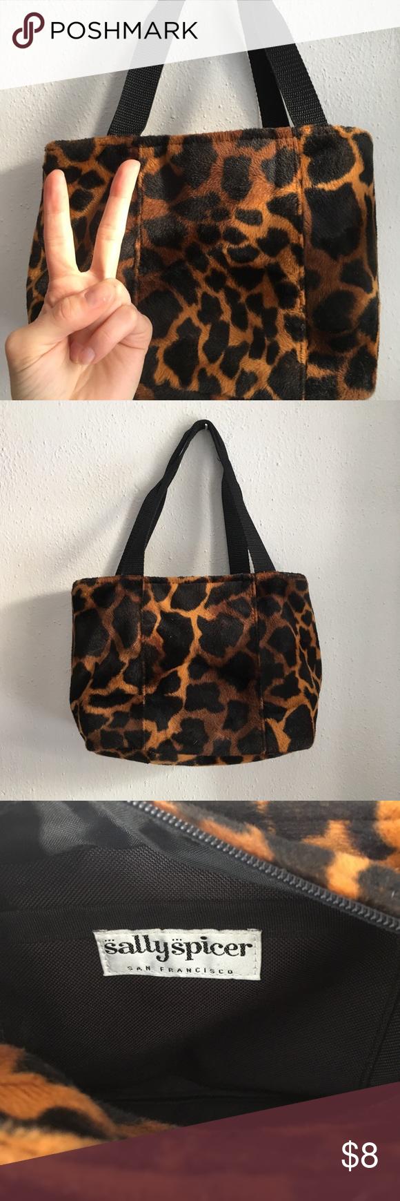 1f80cf4d7906 Faux fur animal print bag Has a cute early 2000s feel. Would make a good