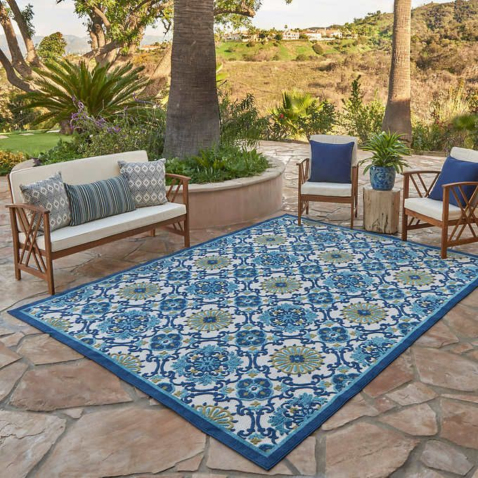 Elements Indoor/Outdoor Paros Tile Area Rug in 2020