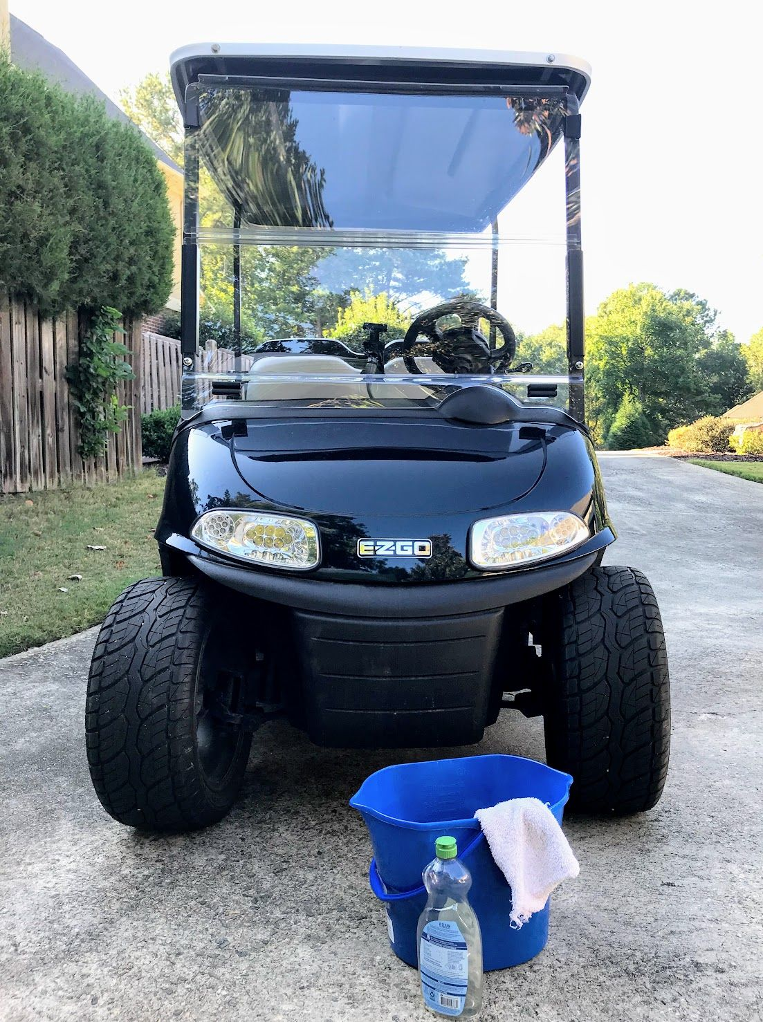 Golf Cart Hacks For A Clean And Clear Windshield Golf Cart Windshield Golf Carts Golf Cart Accessories