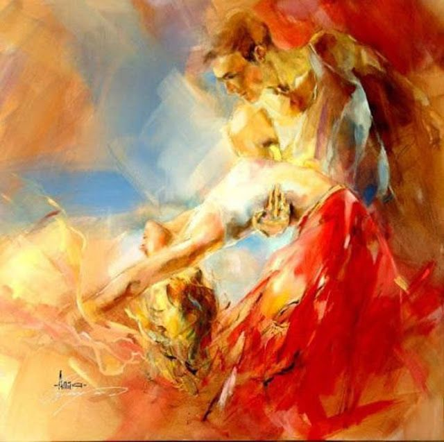 MELODY FOR THE VIOLIN painting poster BEAUTIFUL COLORS STROKES NEW 24X36