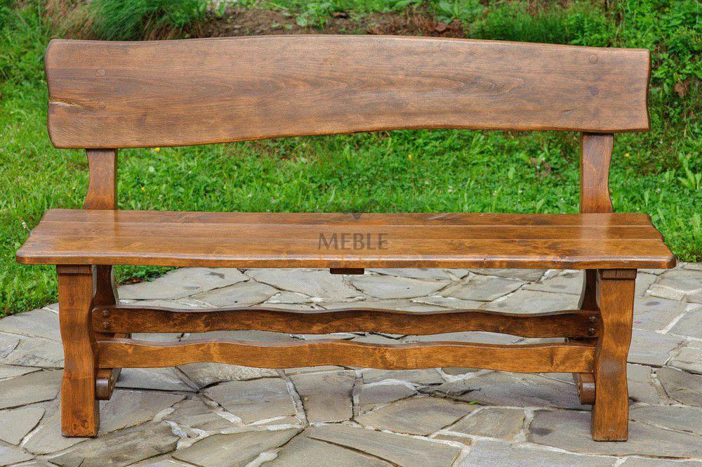 Aktualne Ławka ogrodowa z oparciem drewniana GA-3   stolarstwo   Meble RU68