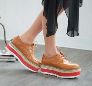 fashion british style elegance  5cm high  thick out sole  platform oxford women shoes student shoes  and brogue € 29,10