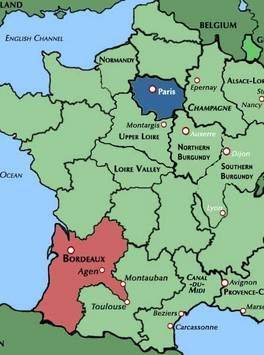 Map Of France Showing Bordeaux.Wines 101 The Wines Of Bordeaux Wine Tasting Party France Map
