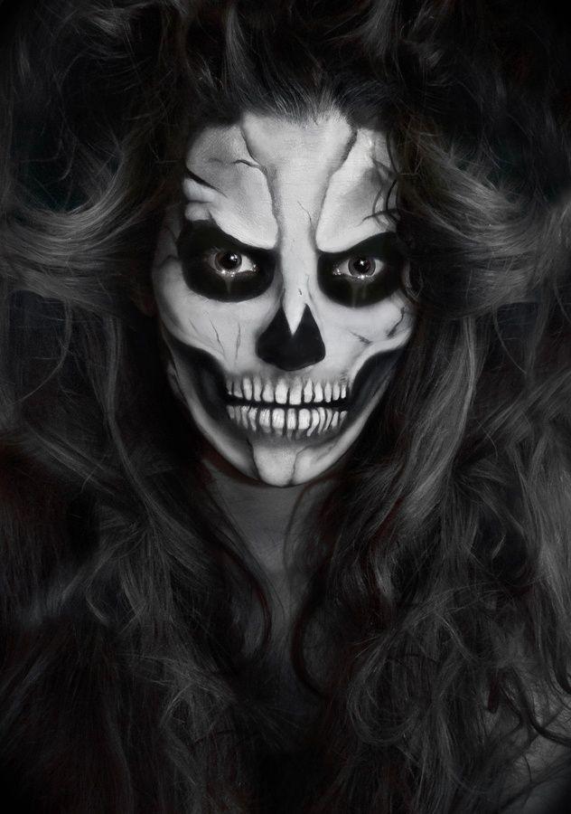 Ideas de maquillaje para Halloween, ¡impresionantes! Skeleton