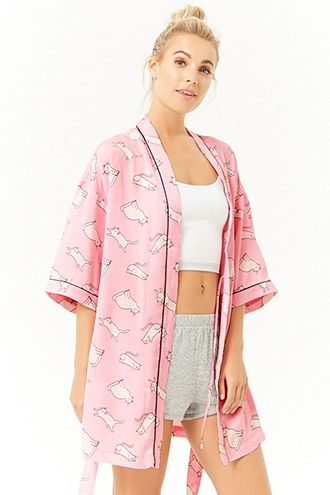 Cat Print Robe | Pauls pajama favorites  Under Construction
