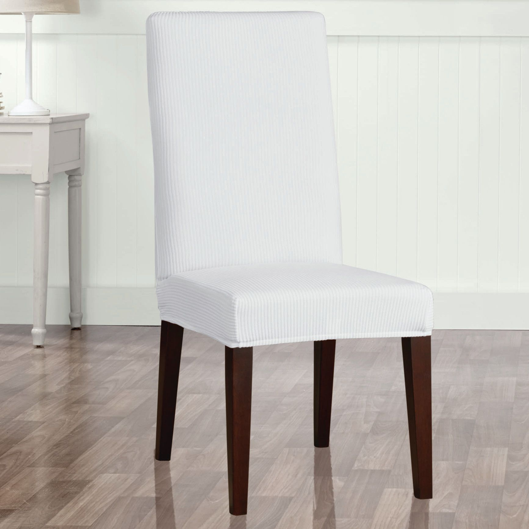 Stretch Seersucker Dining Chair Slipcover Slipcovers for
