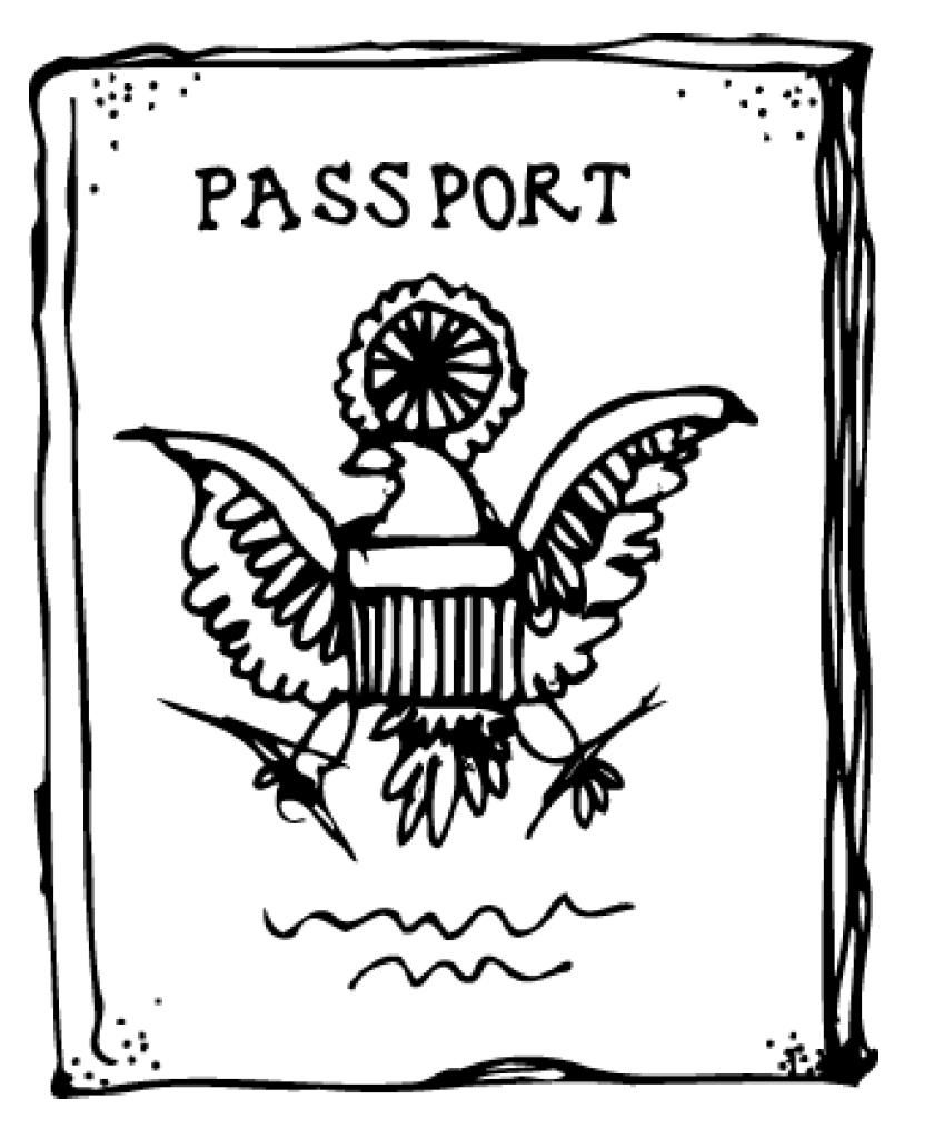 Oceans Of Teaching Ideas August 2011 Coloring Pages Passport Template Teaching