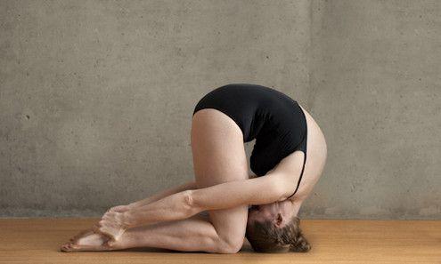really nice rabbit sasangasana pose from bikram yoga