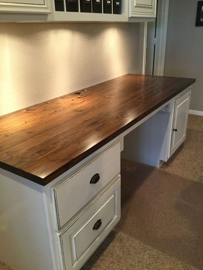 made countertop kitchen craft projects with custom built simplified desk work