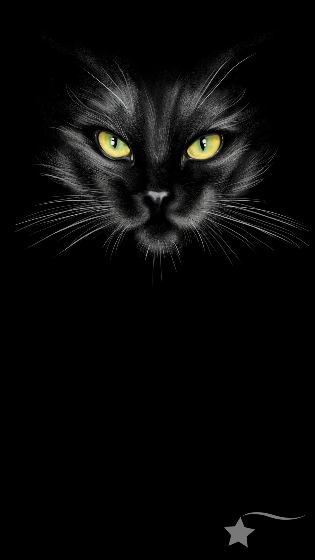 Destira Phone Wallpaper To Match Our Spooky Black Cat Halloween Leotard Black Cat Drawing Cat Wallpaper Cat With Blue Eyes