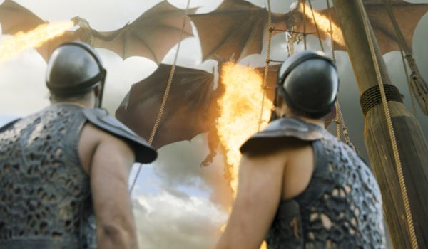 "6.09 ""Battle of the Bastards"" – Daenerys took her three dragons out for a spin and unleashed them. They quickly brought the siege of Meereen to an end."