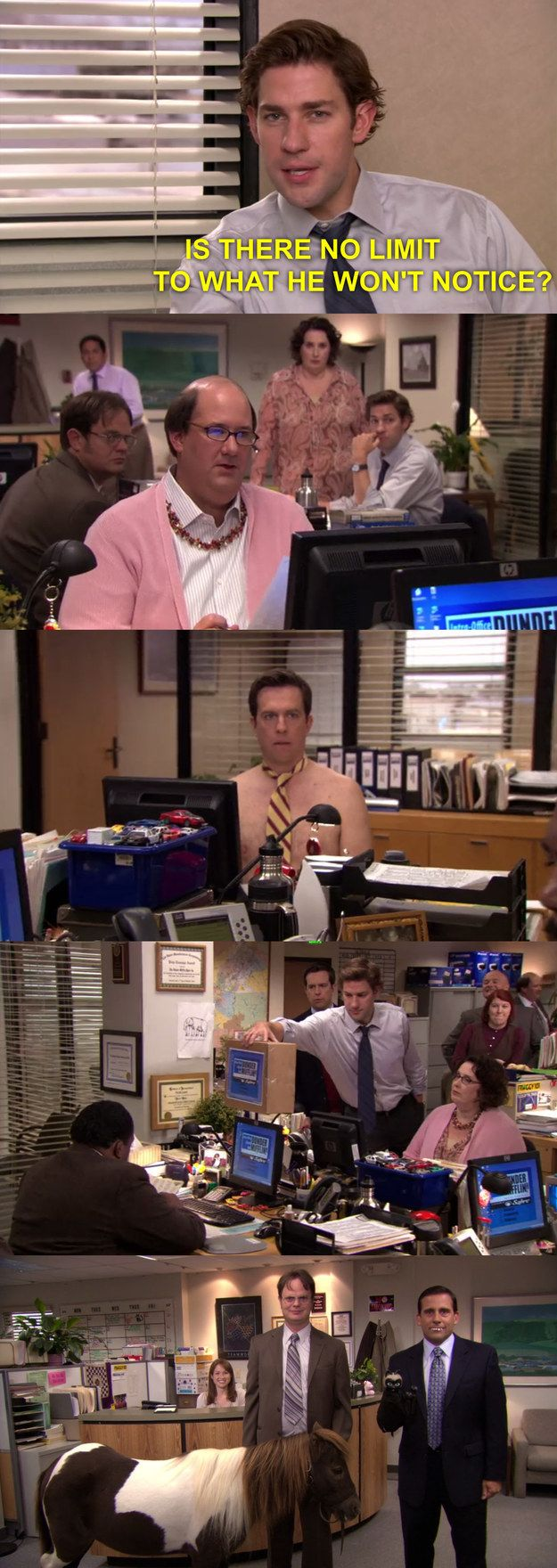 The One Where They Realize Stanley Doesn T Notice Anything 33 Office Cold Opens That Will Always Make You Pee Yo The Office Show Office Humor Office Jokes