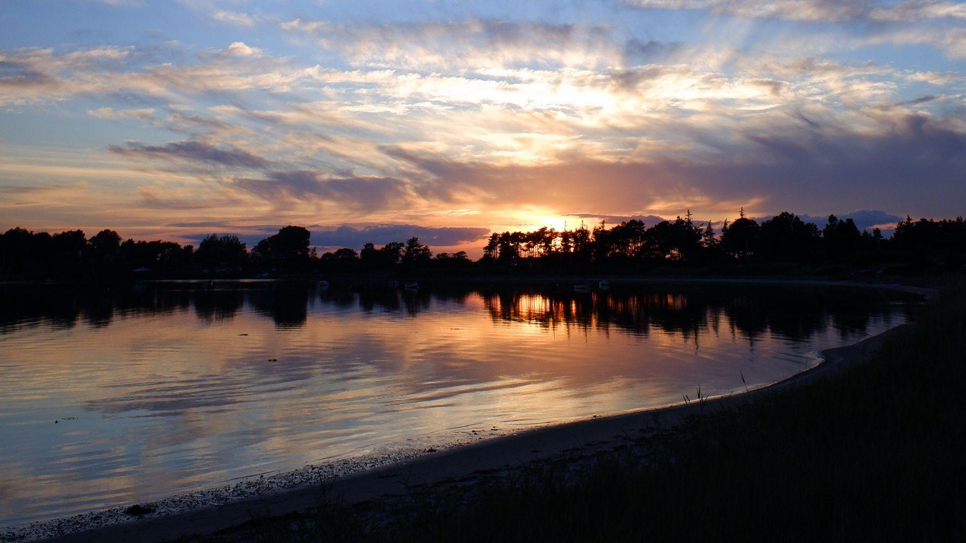 Lake Sunset Dusk Hd Wallpaper Lake Sunset Beach Wallpaper Sunset Wallpaper Wallpaper sea dusk mountains sunset lake
