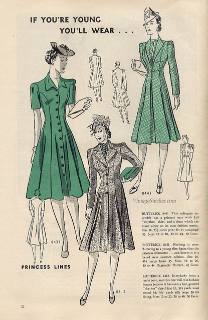 June 1939 Butterick Fashion News | VintageStitches.com