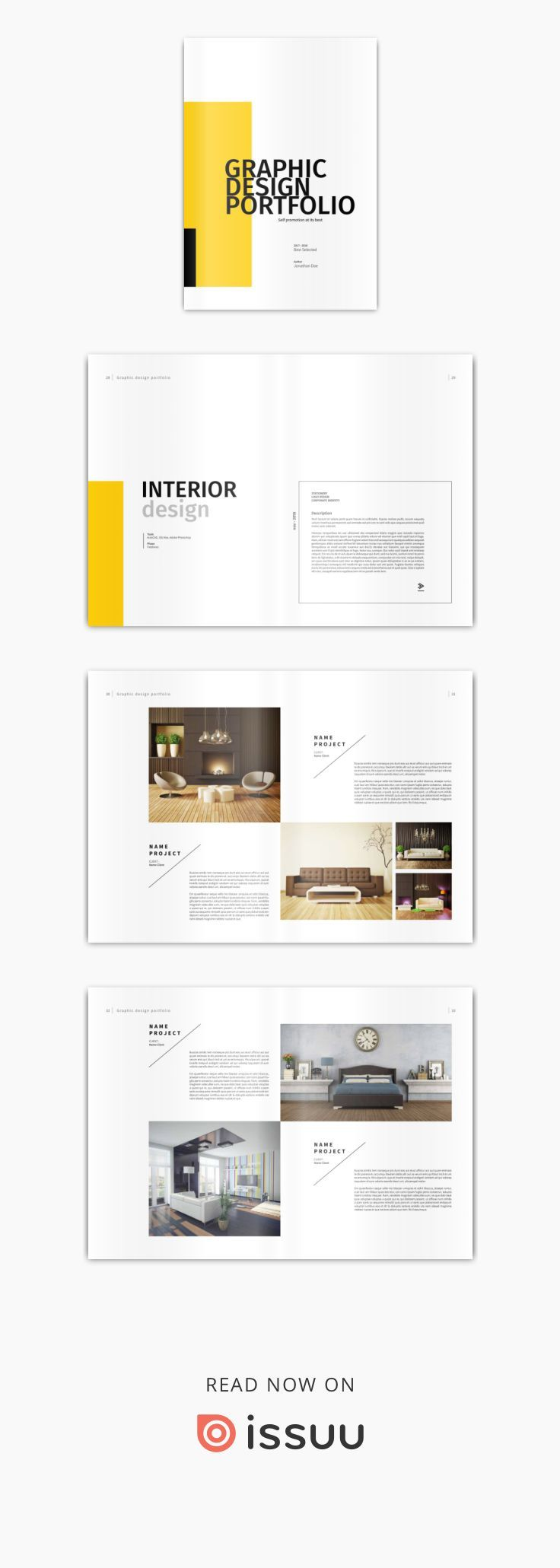Graphic Design Portfolio Template  Graphic Design Portfolios