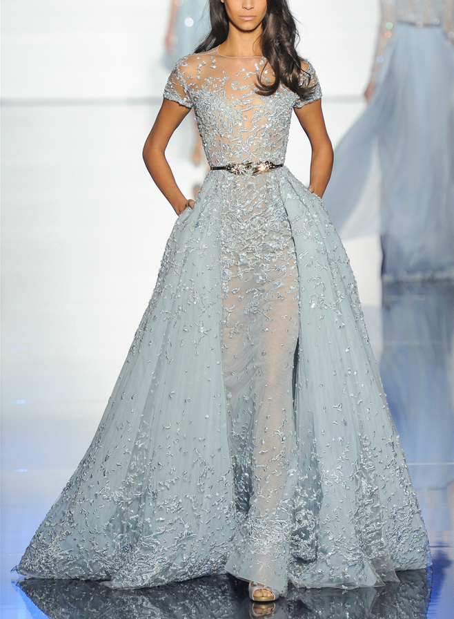 Zuhair Murad Haute Couture Spring 2015 Something Blue