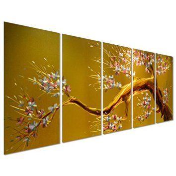 Joys of Spring - Cherry Blossom Flower Tree - Yellow Large Metal ...