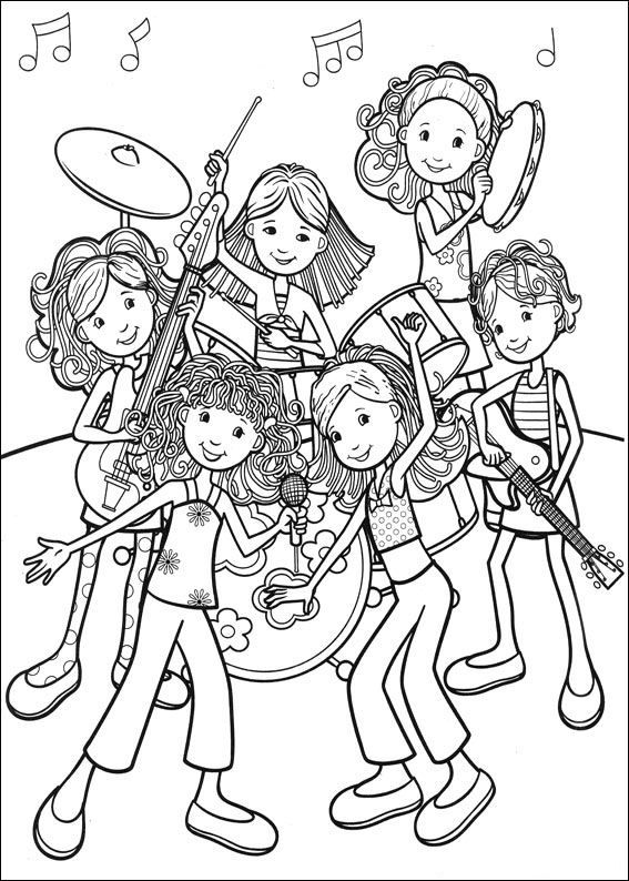 Coloring Page Groovy Girls Groovy Girls On Kids N Fun Co Uk On Kids N Fun You Will Always Find The Cool Coloring Pages Coloring Pages Coloring Pages For Girls