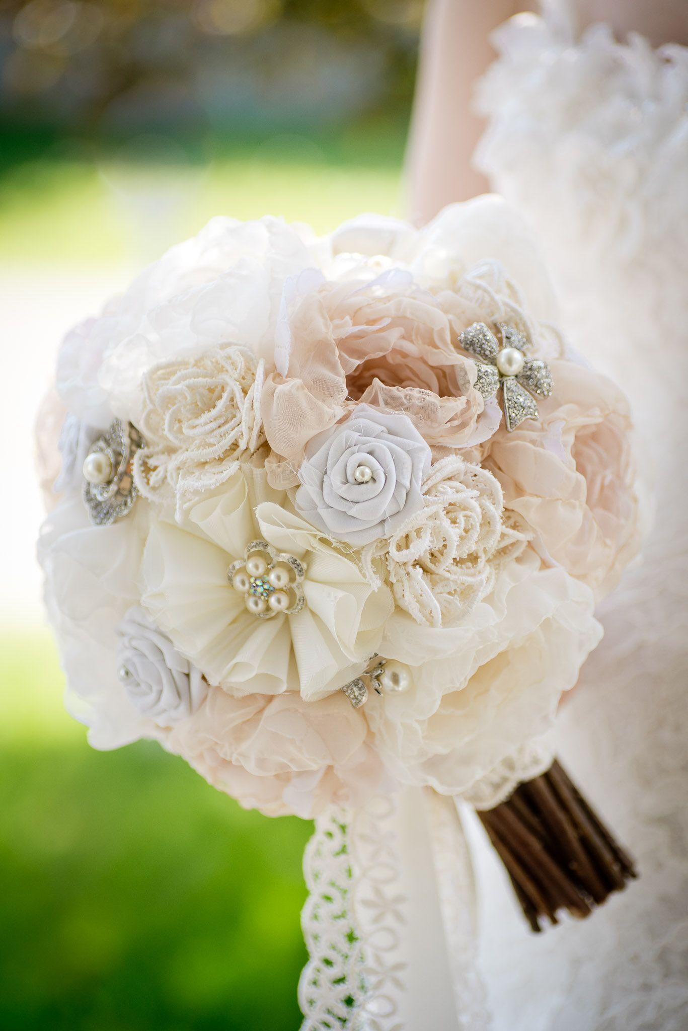 Blog Mlle Artsy Fabric Flower Brooch Bouquet Handmade Diy Workshop