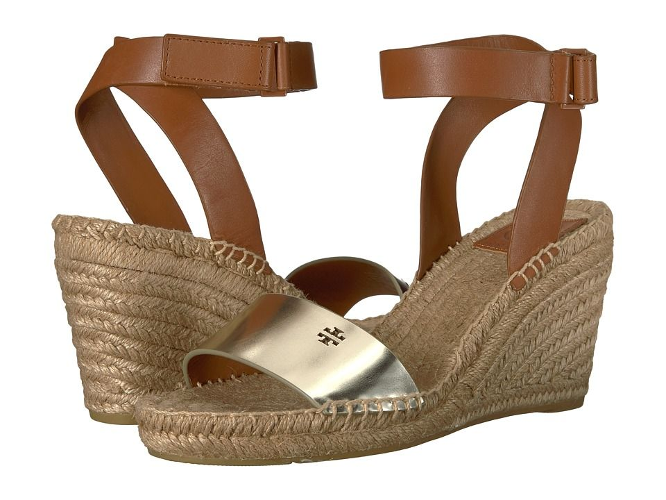 c5211e259cf Tory Burch Bima 2 90mm Wedge Espadrille Women's Shoes Gold/Perfect ...