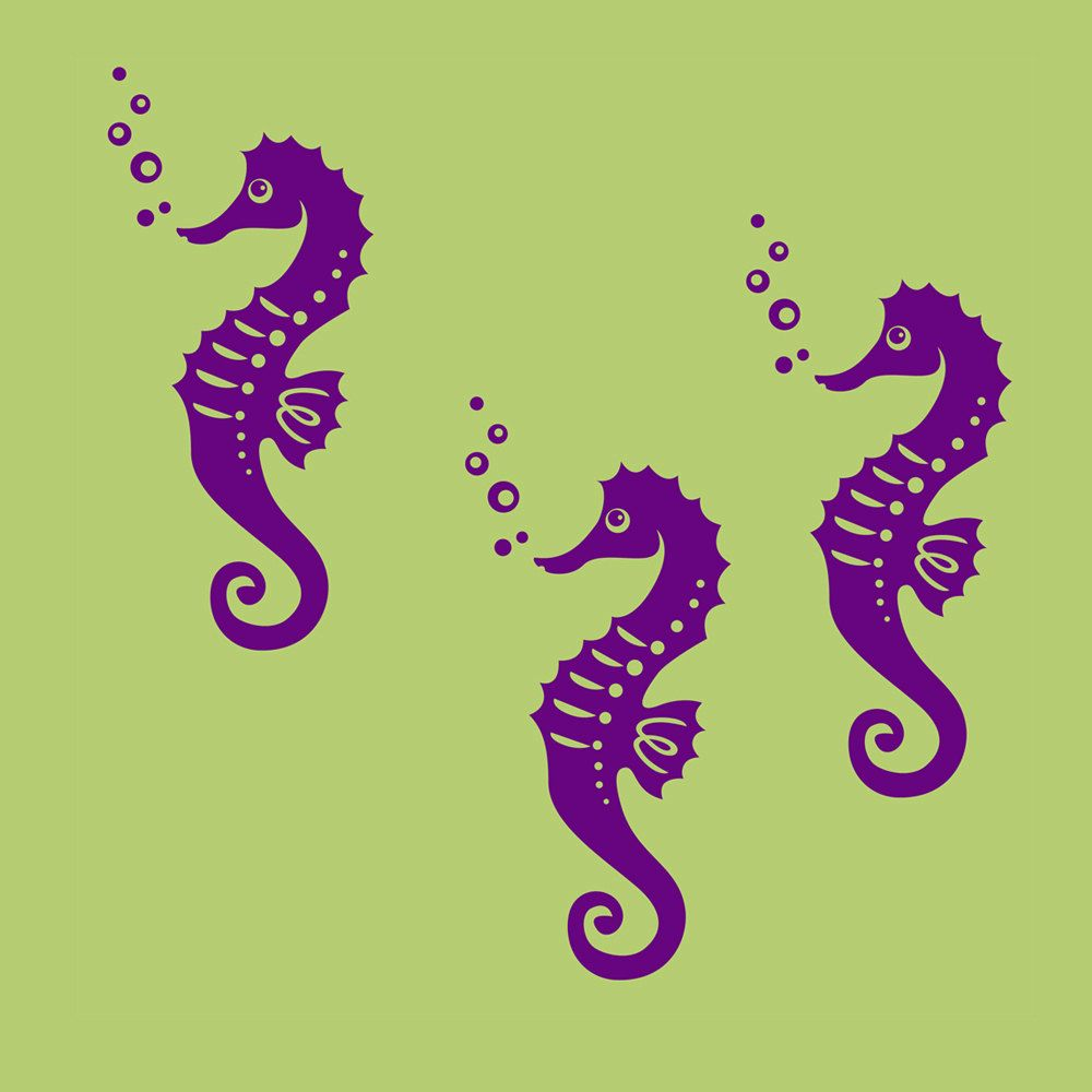 NEW Ocean Seahorse Wall Decals Nursery   Also Kids Wall Decals