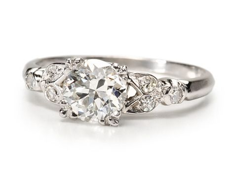 delicate & feminine... love these vintage style rings! Wow Factor: 1.06 ct. Diamond Engagement Ring