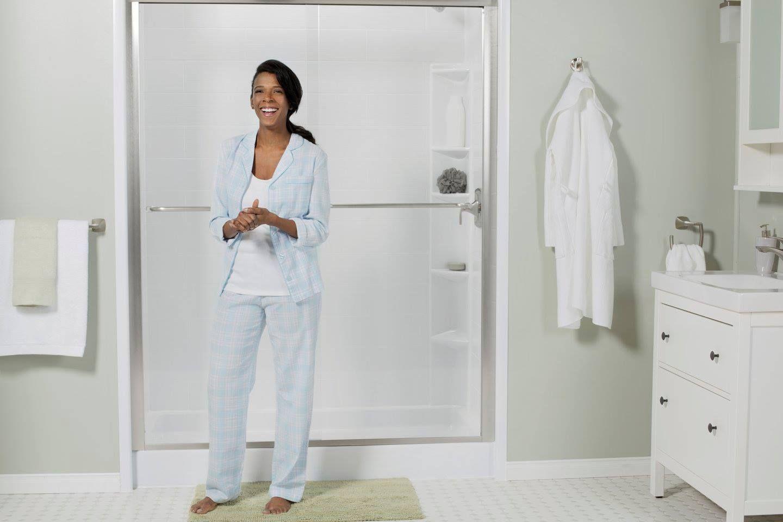 Choose Bath Fitter Bath Fitter Offers Lifetime Warranty Top Quality Customized Bathroom Remodeling Produc Bath Fitter Bathtub Shower Remodel Shower Remodel