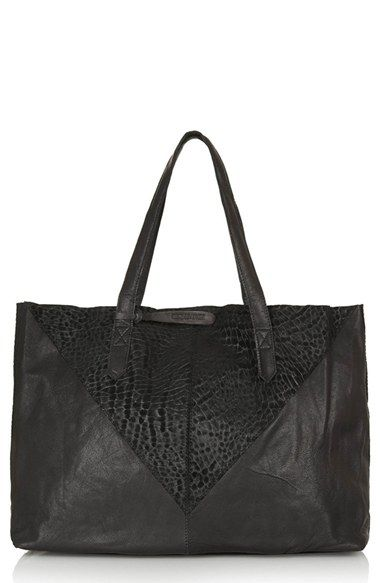 94b164c54a7 Topshop Leather   Suede Shopper Bag available at  Nordstrom   Hold ...