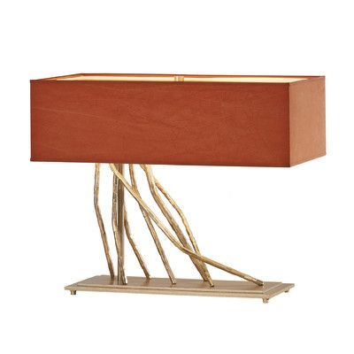 """Hubbardton Forge Brindille 16.7"""" H Table Lamp with Rectangular Shade Shade Color:"""