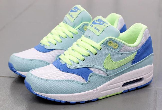 new arrivals 39ed9 70901 Nike WMNS Air Max 1   Julep, Liquid Lime   Coast Blue
