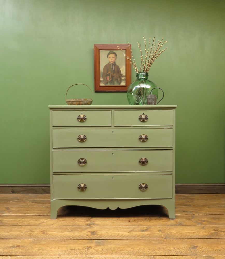 Painted chest of drawers mahogany antique bedroom storage pale