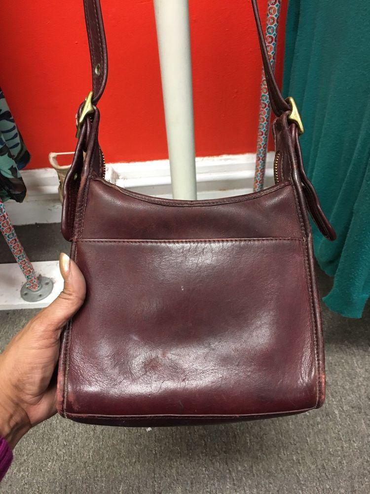Vintage Coach 9997 Legacy Wine Leather Hobo Crossbody Handbag Ebay
