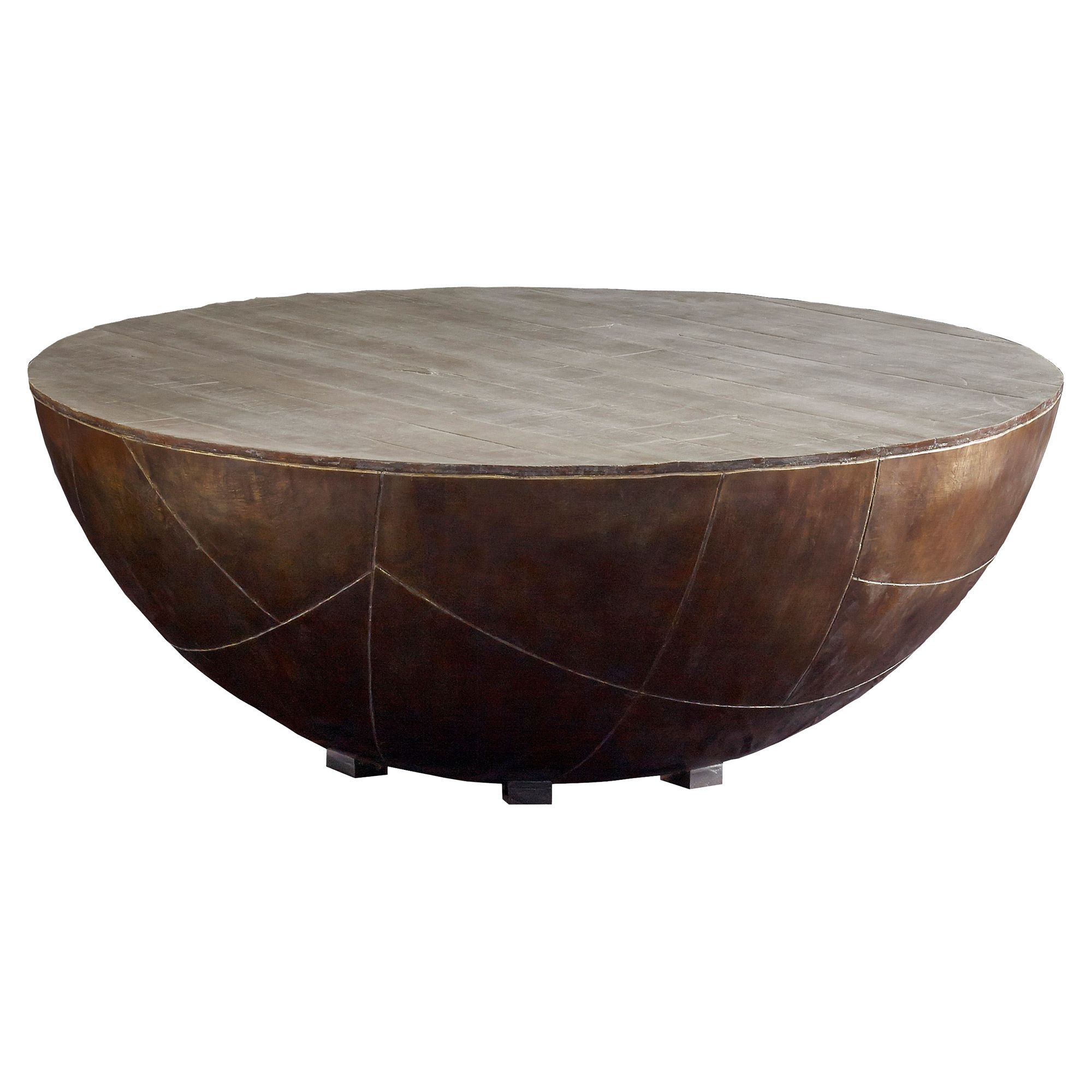 Donny Industrial Loft Antique Brass Wood Top Round Round Coffee Table In 2021 Drum Coffee Table Coffee Table Brass Drum Coffee Table [ 2000 x 2000 Pixel ]