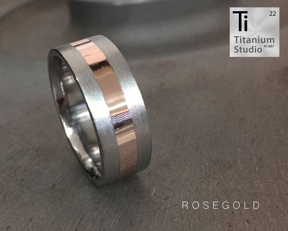 Curved edges wide band satin finish rose gold sterling silver ring