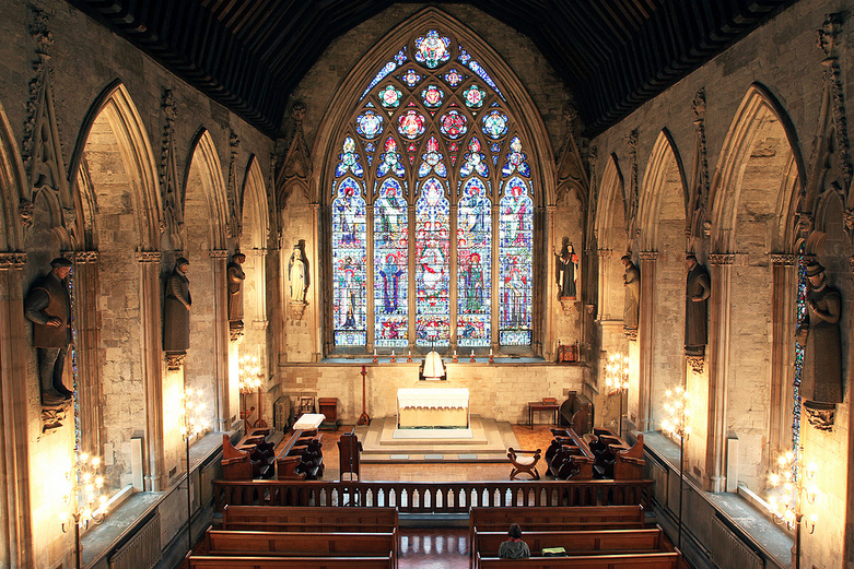 St. Etheldreda's Roman Catholic Church, London, UK.  The former chapel of Ely Place which was the London residence of John of Gaunt and Katherine Swynford after their marriage.