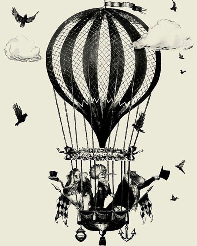 Les histoires courtes de la montgolfi re des r ves - Dessin montgolfiere ...