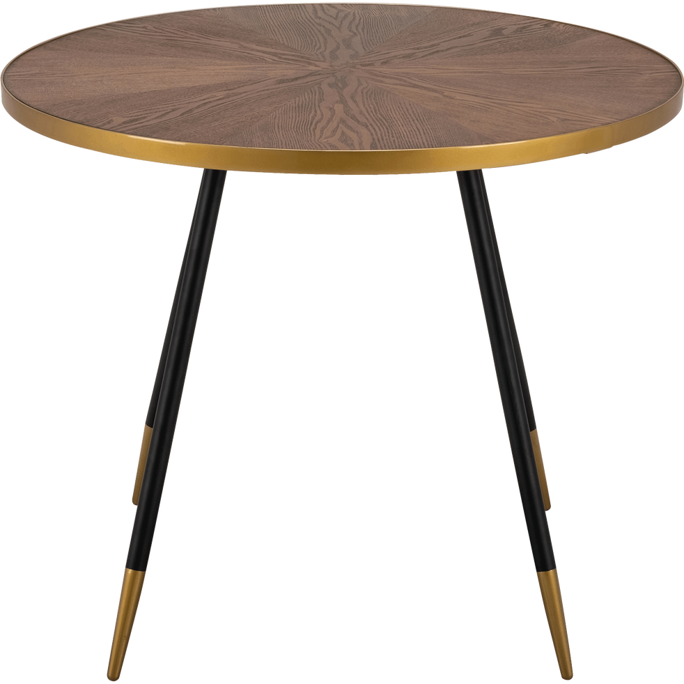 Table de repas ronde effet noyer - 6 places - MARTA - meubles