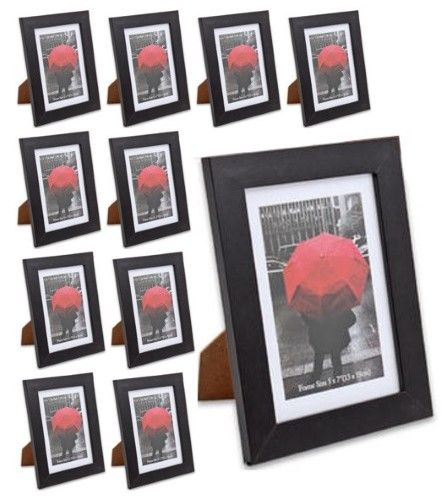Weyli Wood 4x6 5x7 8x10 Picture Photo Frame With Thick Border 10 Pack Frame Photo On Wood Hanging Frames