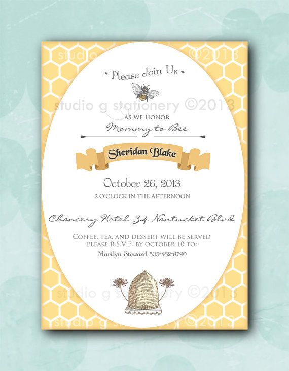 Mommy to bee baby shower invitations printed invitations sold in mommy to bee baby shower invitation 12 by studiogstationery 2400 filmwisefo