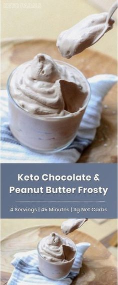 Keto Chocolate Peanut Butter Wendy's Frosty #chocolatefrosty