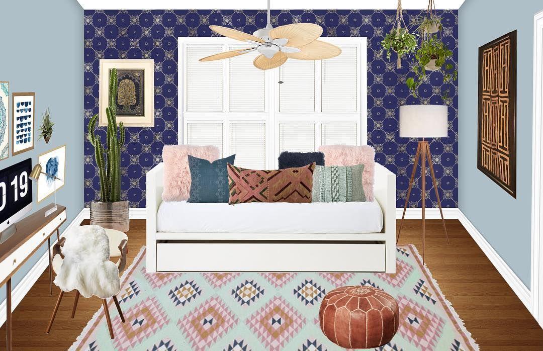Guest room/office concept for my @decoristofficial client!  . . . . #interiordesign #interiordesigner #inspo #inspiration #instalove #instagood #me #love #photoshop #photooftheday #rendering #onlinedesign #edesign #decor #design #designer #decorate #decorist #decoristdesigner #homedecor #popofcolor