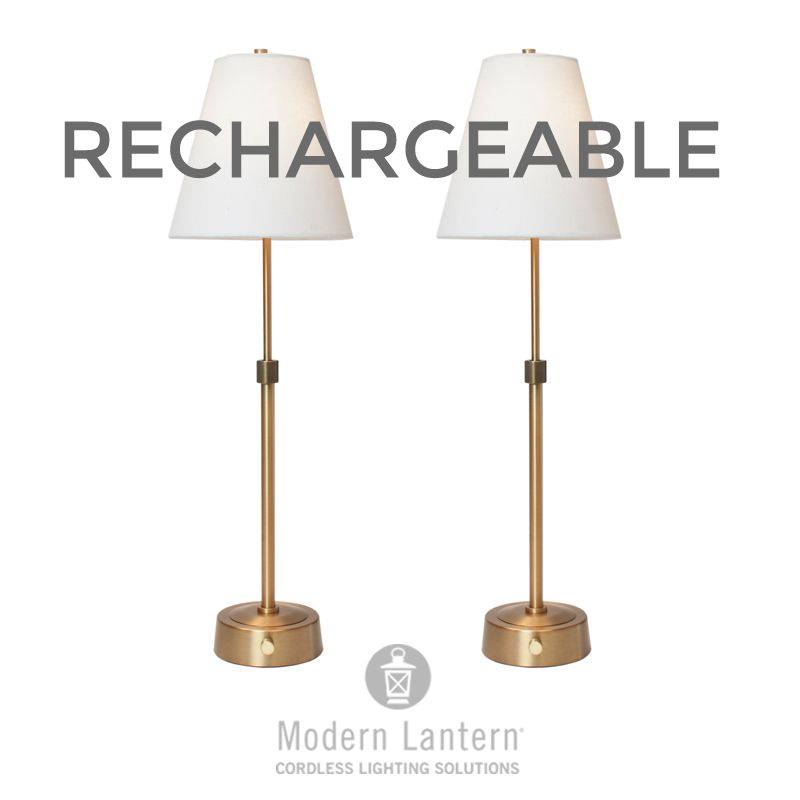 Mini Cordless Buffet Lamp Antique Brass Lamp Cordless Lamps