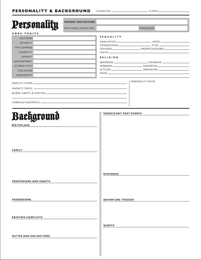 Printables Character Profile Worksheet collection of character profile worksheet bloggakuten