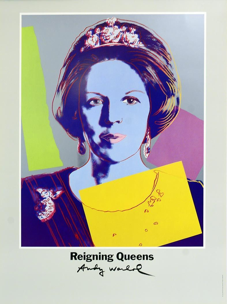 Warhol Amsterdam Queen Beatrix Of The Netherlands By Andy Warhol Amsterdam