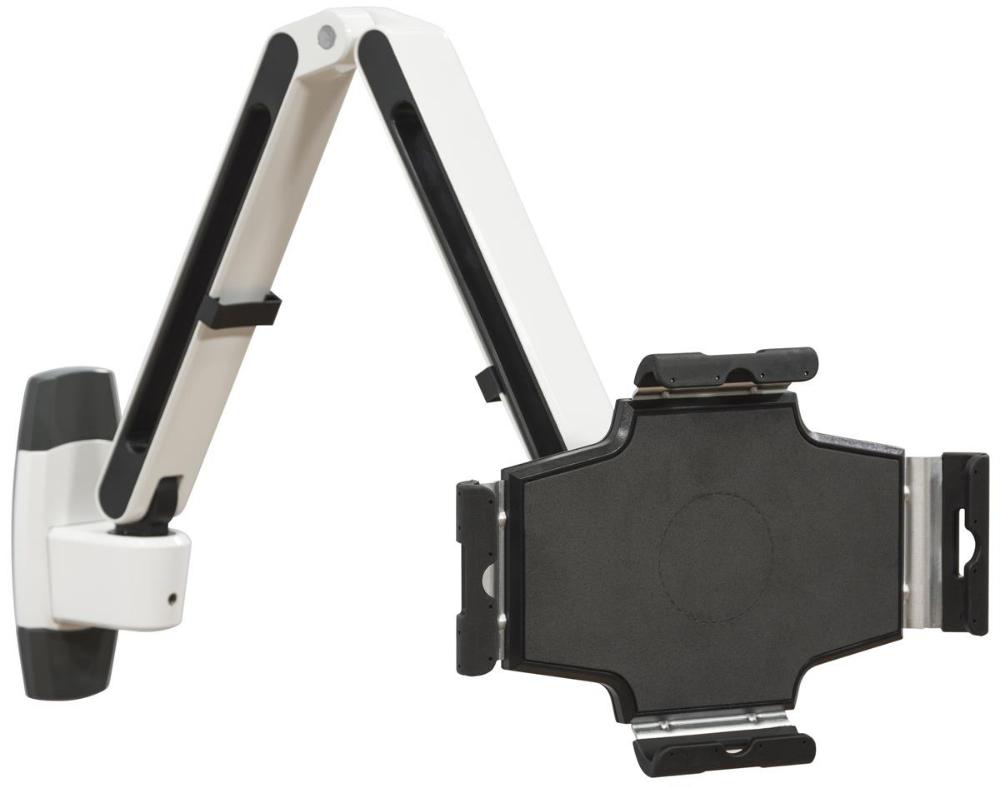 Flexstand Series Ipad Wall Mount With Adjustable Arm Tilts Locks White Black Ipad Wall Mount Tablet Wall Mount Wall Mount