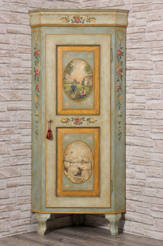 Angolare dipinto con le due stagioni policrome mobile per for Disegni mobili casa