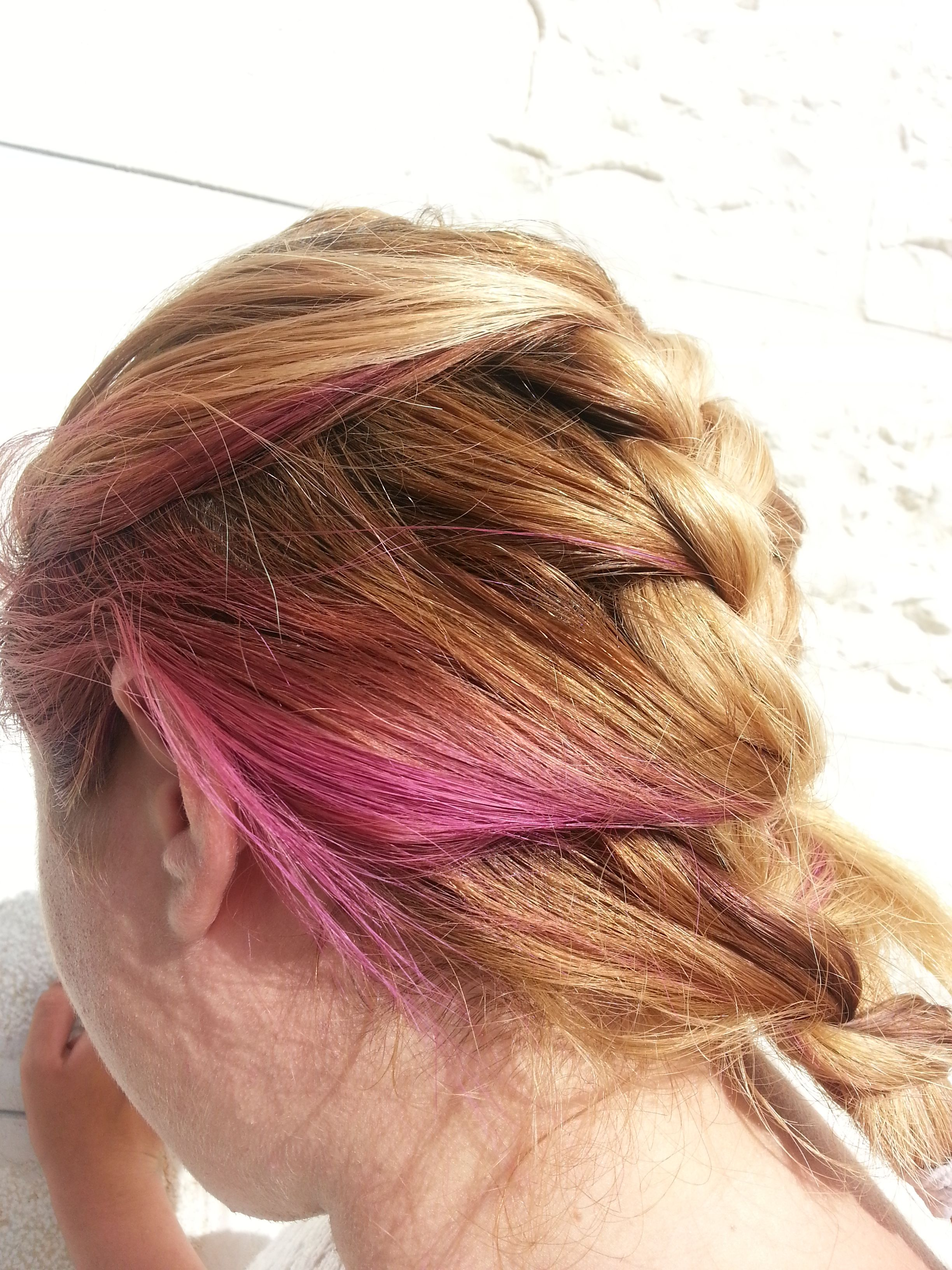 #pink #blonde #braid #hair