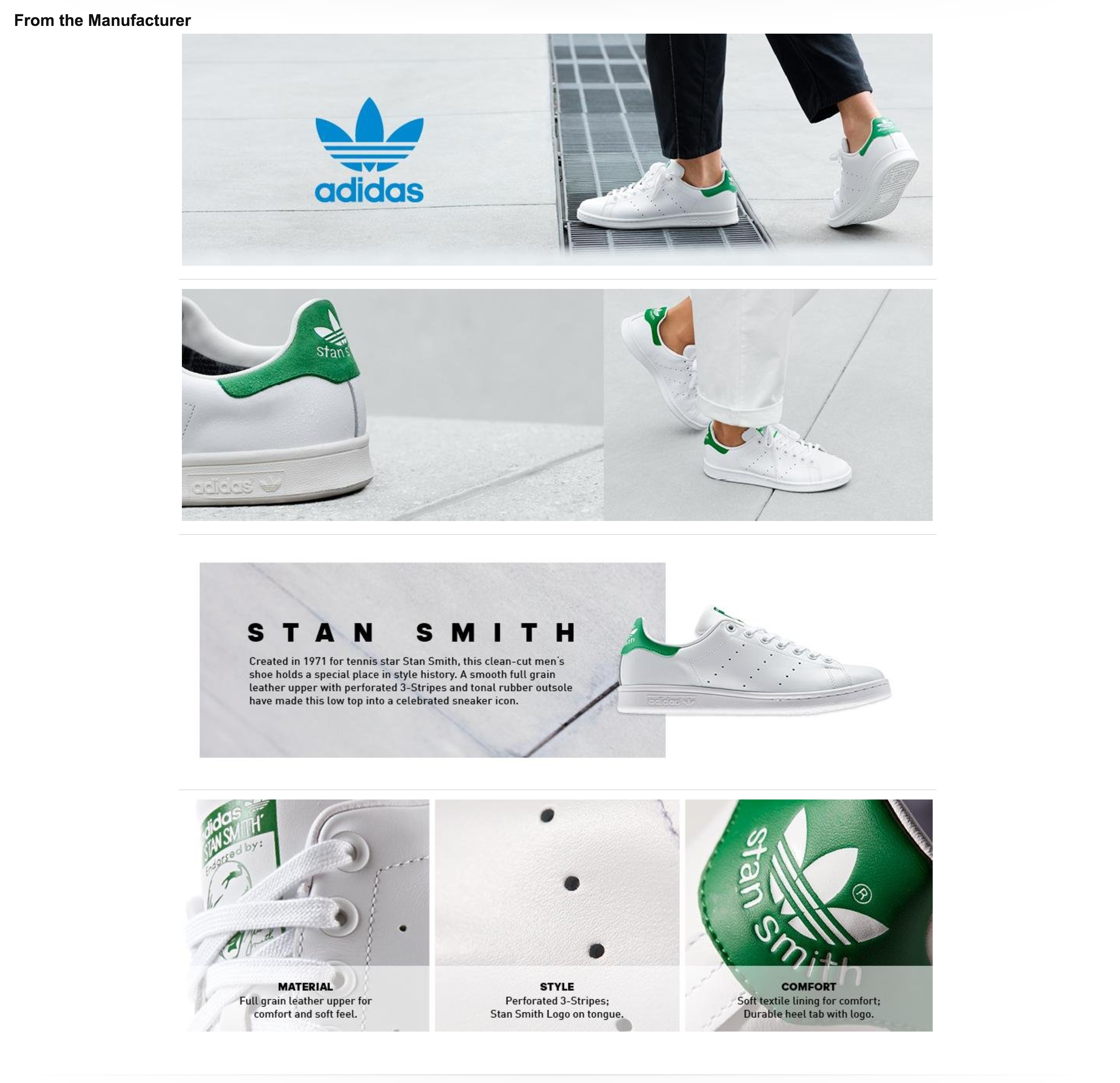 c0cc98c46de62 Adidas Amazon A+ Page | Amazon A+ | Sneakers fashion, Stan smith ...