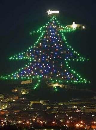 Albero Di Natale Gubbio.Gubbio S Albero Di Natale The Largest Christmas Tree In The World